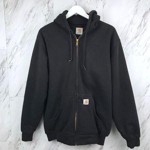 Carharrt Full Zip Up Hooded Sweatshirt Heavy Lined